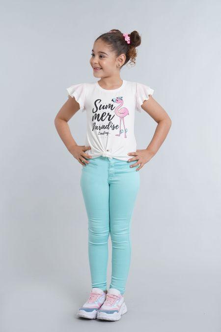 Blusa para Niña Color Blanco Ref: 022828 - Lazus - Talla: 4