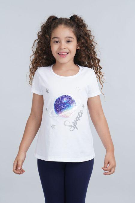 Camiseta para Niña Color Blanco Ref: 001921 - CCU - Talla: 10
