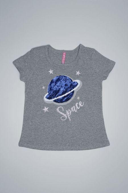 Camiseta para Niña Color Gris Ref: 001921 - CCU - Talla: 6