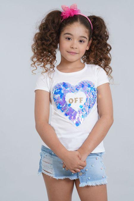 Camiseta para Niña Color Blanco Ref: 001934 - CCU - Talla: 6