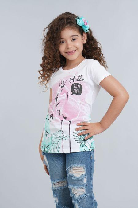 Camiseta para Niña Color Blanco Ref: 001361 - CCU - Talla: 8