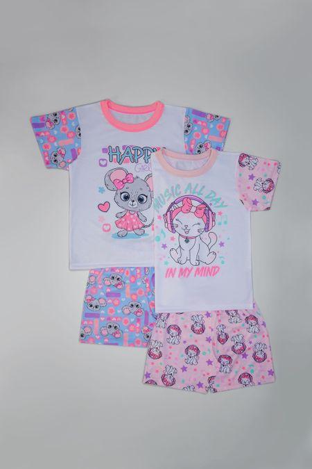 Pack x 2 Pijama para Niña Color Surtido Ref: A131713 - Ambil - Talla: 2