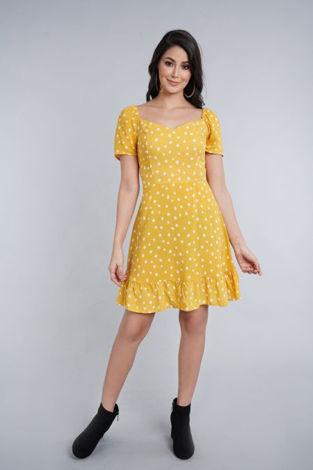 Vestido para Mujer Color Amarillo Ref: C20003 - CCU - Talla: L