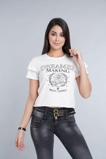 Blusa para Rebel Color Marfil Ref: 004884 - Colditex - Talla: XS