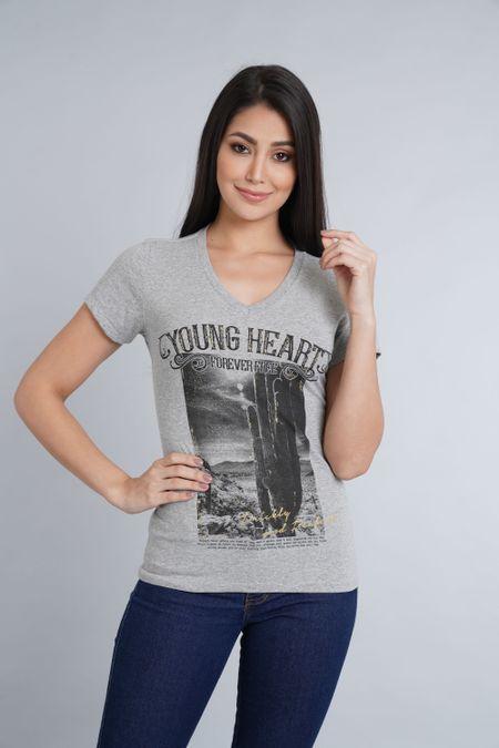Camiseta para Mujer Color Gris Ref: 051383 - CCU - Talla: M