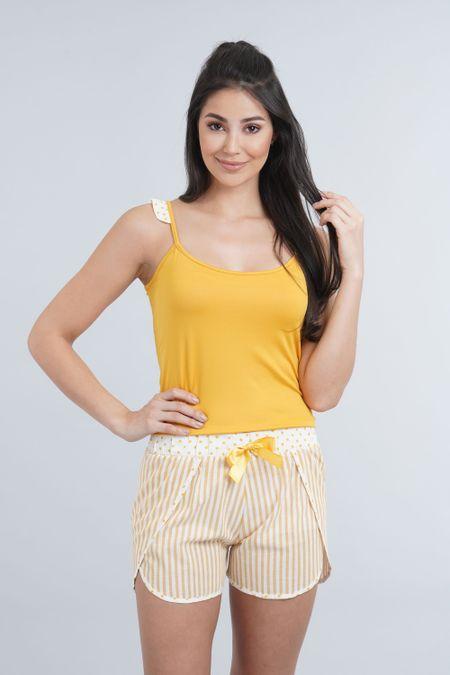 Pijama para Mujer Color Amarillo Ref: 011274 - CCU - Talla: S