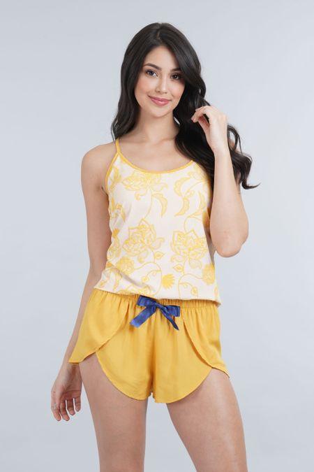 Pijama para Mujer Color Amarillo Ref: 011278 - CCU - Talla: S