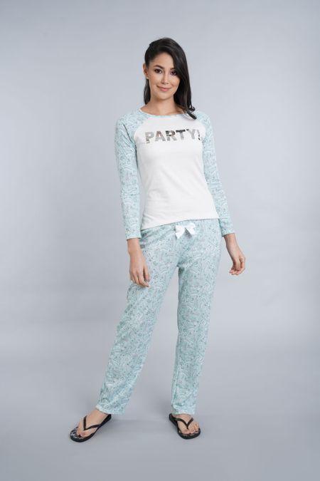 Pijama para Mujer Color Verde Ref: 011251 - CCU - Talla: S
