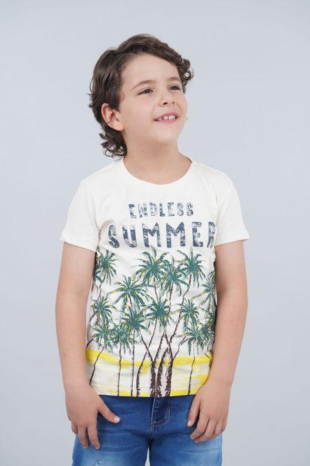 Camiseta para Niño Color Marfil Ref: 030145 - CCU - Talla: 8