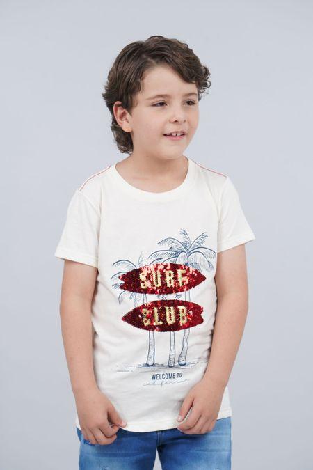Camiseta para Niño Color Marfil Ref: 030157 - CCU - Talla: 10