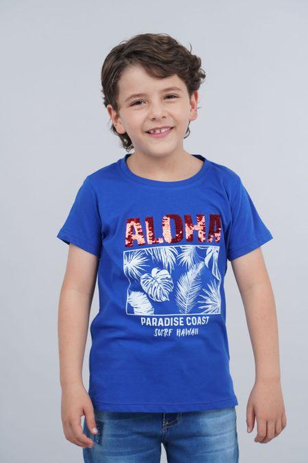 Camiseta para Niño Color Azul Ref: 030160 - CCU - Talla: 10