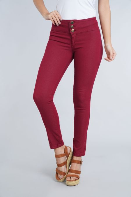 Pantalon para Mujer Color Vinotinto Ref: 101502-2 - E.U - Talla: 8