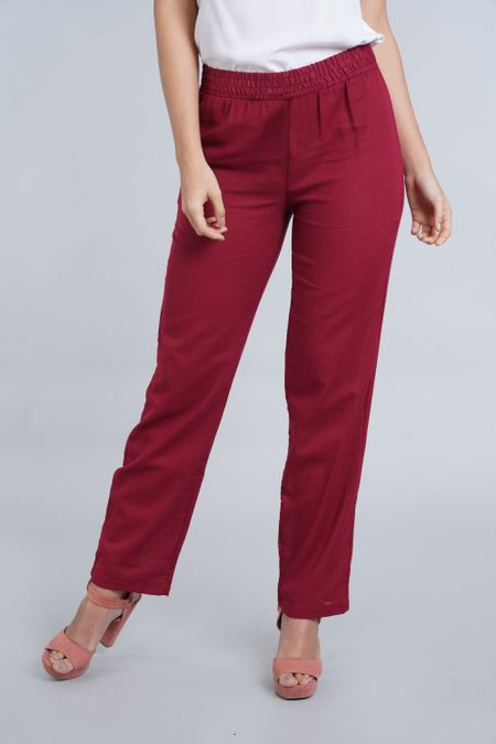 Pantalon para Mujer Color Vinotinto Ref: 100729 - E.U - Talla: 8