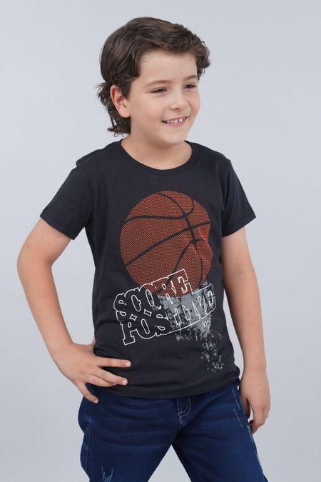 Camiseta para Niño Color Negro Ref: 030149 - CCU - Talla: 8