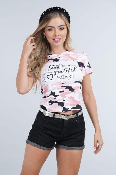Blusa para Rebel Color Rosado Ref: 081417 - CCU - Talla: XS