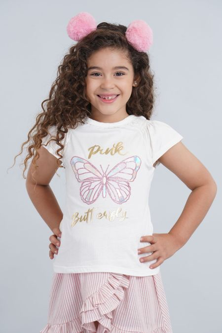 Blusa para Niña Color Marfil Ref: 001892 - CCU - Talla: 6