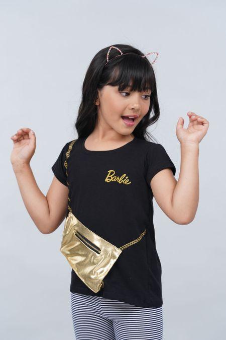 Camiseta para Niña Color Negro Ref: 033024 - Confetex - Talla: 4