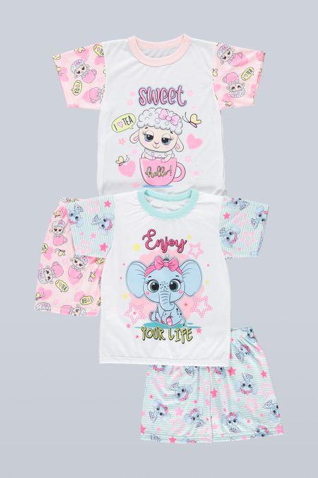 Pack x 2 Pijama para Niña Color Surtido Ref: A31717 - Ambil - Talla: 2