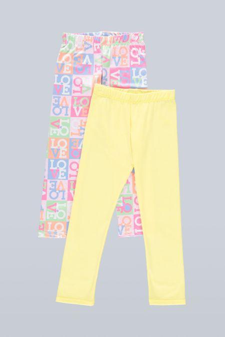 Pack x 2 Leggin para Niña Color Surtido Ref: B04801 - Ambil - Talla: 2