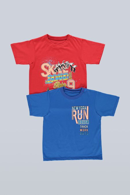 Pack x 2 Camiseta para Niño Color Surtido Ref: B15080 - Ambil - Talla: 2