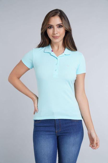 Polo para Mujer Color Azul Ref: 007119 - E.U - Talla: S