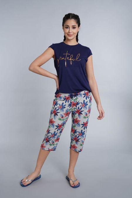 Pijama para Mujer Color Azul Ref: 011243 - CCU - Talla: S