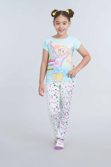 Pijama para Niña Color Verde Ref: 034005 - Confetex - Talla: 4