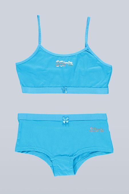 Cjto R.I. para Niña Color Azul Ref: 019807 - Sex - Talla: 2