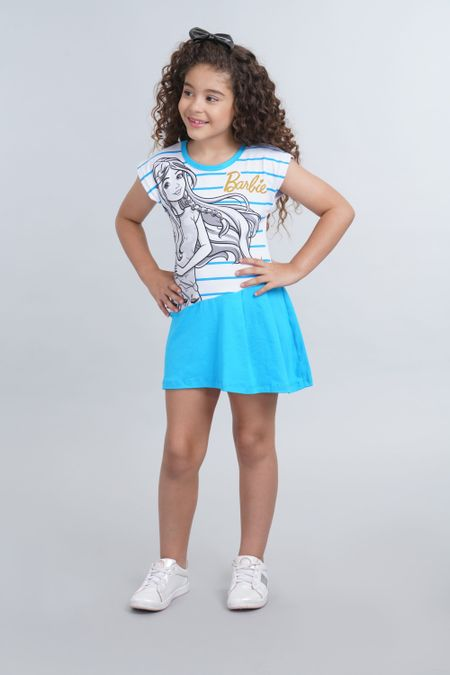 Vestido para Niña Color Azul Ref: 037500 - Confetex - Talla: 4