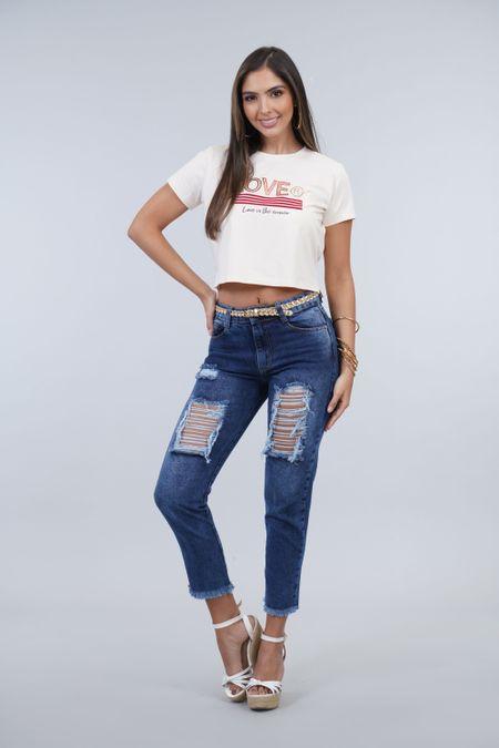 Blusa para Mujer Color Marfil Ref: B14001 - DK - Talla: S