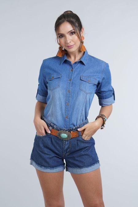 Camisa para Mujer Color Azul Ref: 103297 - E.U - Talla: M