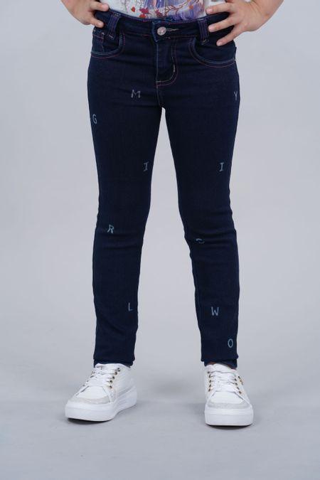 Jean para Niña Color Azul Ref: 201080 - Tex Sion - Talla: 6