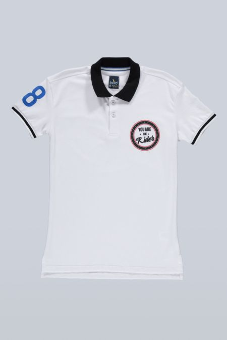 Polo para Junior Color Blanco Ref: 201094 - Tex Sion - Talla: 12