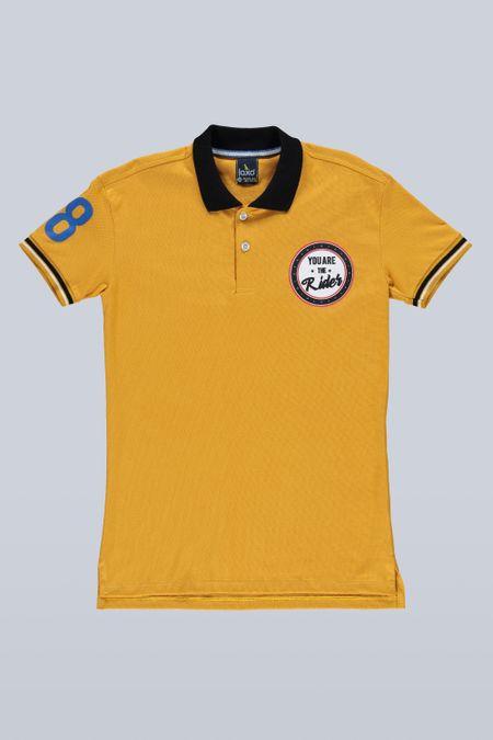 Polo para Junior Color Amarillo Ref: 201094 - Tex Sion - Talla: 12