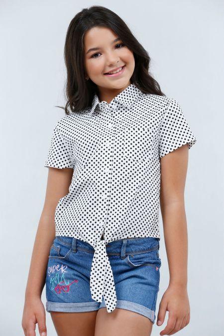 Camisa para Niña Color Blanco Ref: 201113 - Tex Sion - Talla: 12