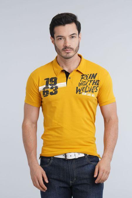 Polo para Hombre Color Amarillo Ref: 400101 - E.U - Talla: S
