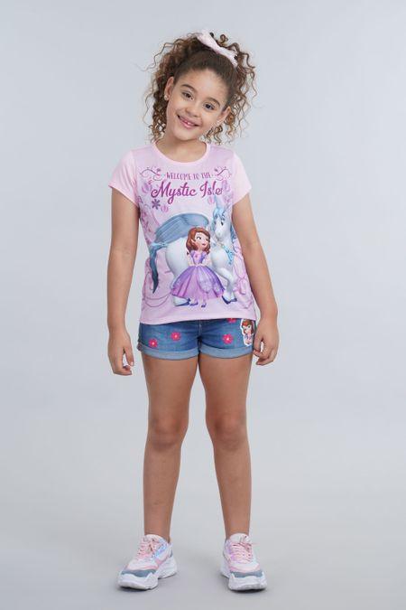 Camiseta para Niña Color Rosado Ref: 103798 - Confetex - Talla: 2