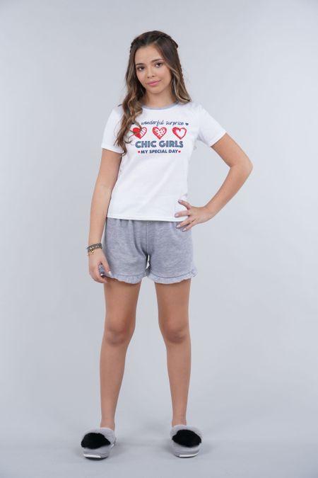 Pijama para Teen Color Gris Ref: 021061 - CCU - Talla: 10
