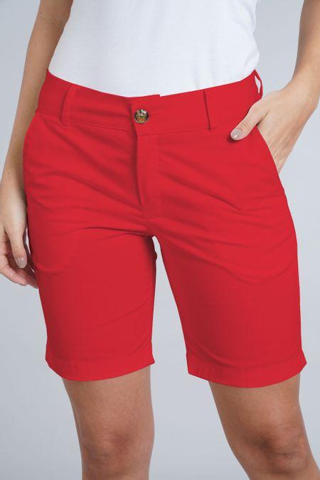 Bermuda para Mujer Color Rojo Ref: 007697 - E.U - Talla: 8