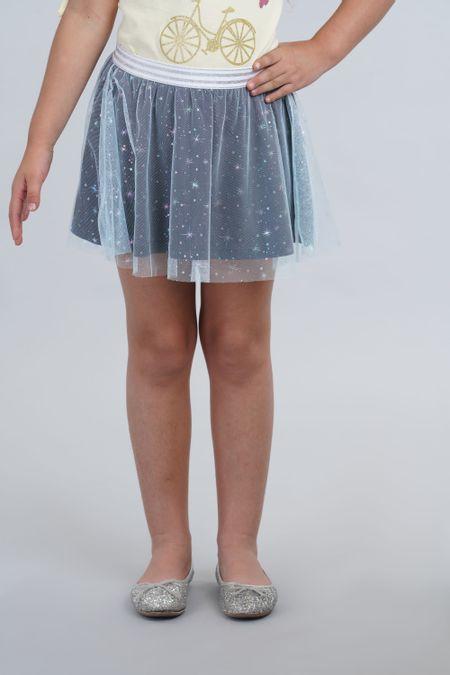 Falda para Niña Color Azul Ref: 001907 - CCU - Talla: 6