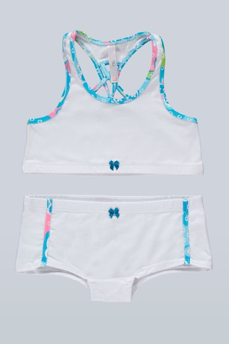 Cjto R.I. para Niña Color Blanco Ref: 013425 - Sex - Talla: 2