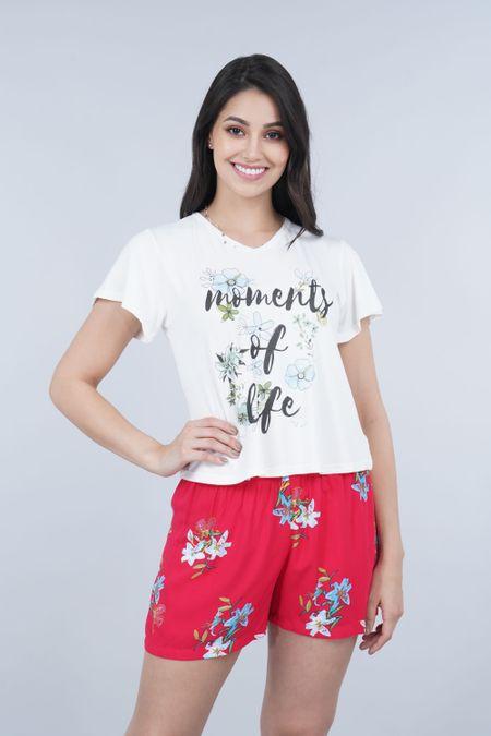Pijama para Mujer Color Marfil Ref: 011310 - CCU - Talla: S