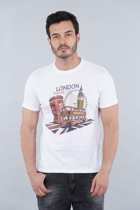 Camiseta para Hombre Color Blanco Ref: 001023 - CCU - Talla: S