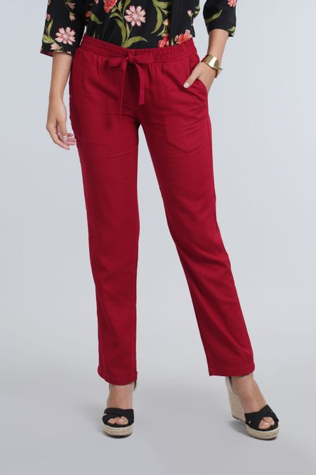 Pantalon para Mujer Color Vinotinto Ref: 003557 - E.U - Talla: 8