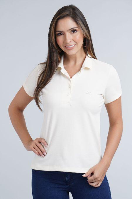 Polo para Mujer Color Marfil Ref: 007119 - E.U - Talla: M