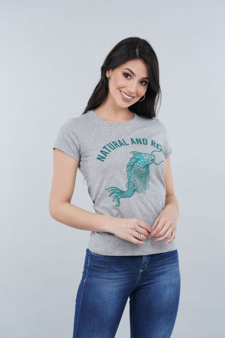 Camiseta para Mujer Color Gris Ref: 000987 - CCU - Talla: S