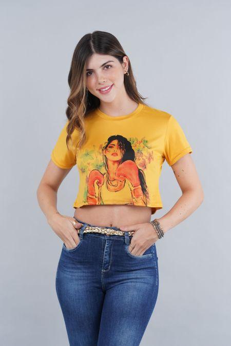 Blusa para Rebel Color Amarillo Ref: 081436 - CCU - Talla: XS