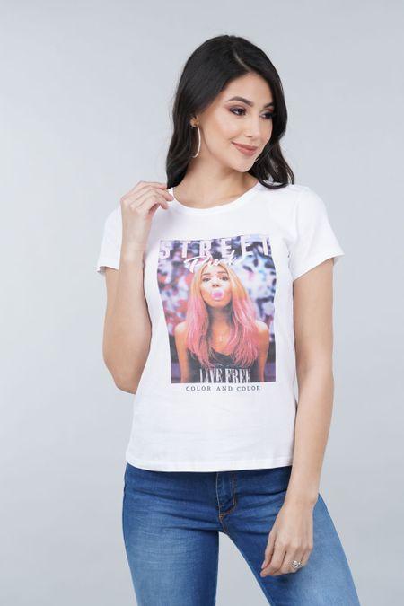 Camiseta para Mujer Color Blanco Ref: 001028 - CCU - Talla: S