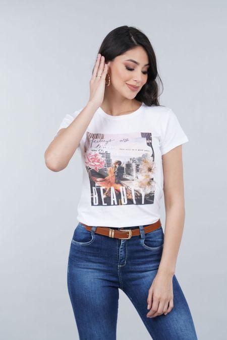 Camiseta para Mujer Color Blanco Ref: 001029 - CCU - Talla: XL