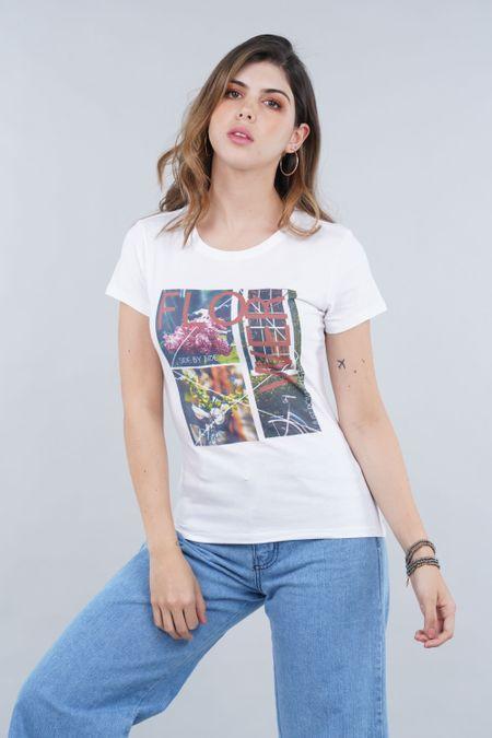 Camiseta para Mujer Color Blanco Ref: 001031 - CCU - Talla: S